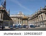 paris   april 21  police cars... | Shutterstock . vector #1090338107