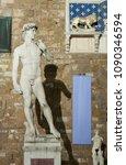 michelangelo's replica david... | Shutterstock . vector #1090346594