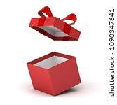 open gift box   red present box ... | Shutterstock . vector #1090347641