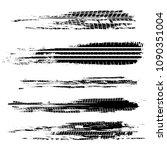 automobile tire tracks vector... | Shutterstock .eps vector #1090351004