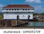 panama canal  panama  april 19  ...   Shutterstock . vector #1090351739