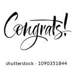Congrats Lettering. Handwritte...