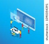 business analytics design... | Shutterstock .eps vector #1090354391