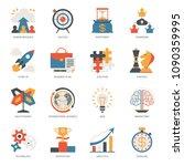 startup business icon vector... | Shutterstock .eps vector #1090359995