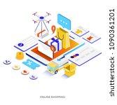 modern flat design isometric... | Shutterstock .eps vector #1090361201