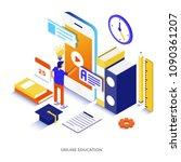 modern flat design isometric... | Shutterstock .eps vector #1090361207