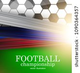 football abstract background.... | Shutterstock .eps vector #1090364357