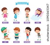 vector illustration of child... | Shutterstock .eps vector #1090365347