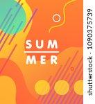 unique artistic design card  ...   Shutterstock .eps vector #1090375739