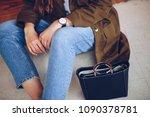 street fashion portrait detail... | Shutterstock . vector #1090378781