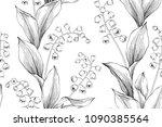 seamless flower pattern... | Shutterstock .eps vector #1090385564