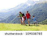 family on a trekking day in the ...   Shutterstock . vector #109038785