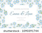 wedding marriage event... | Shutterstock .eps vector #1090391744