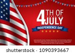 independence day background ... | Shutterstock .eps vector #1090393667