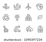 environment hand drawn icon set ... | Shutterstock .eps vector #1090397234