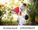 happy asian family father and... | Shutterstock . vector #1090398629