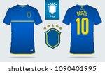 set of soccer jersey or...   Shutterstock .eps vector #1090401995