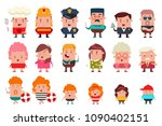 people of different occupations ... | Shutterstock .eps vector #1090402151