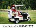 Golf Cart On Golf Course  Copy...
