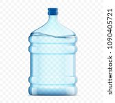 bottle with clean  fresh water...   Shutterstock .eps vector #1090405721