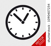 clock   editable vector icon  ... | Shutterstock .eps vector #1090407254