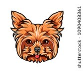 domestic yorkshire terrier dog... | Shutterstock .eps vector #1090408361