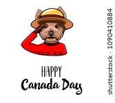 yorkshire terrier royal... | Shutterstock .eps vector #1090410884