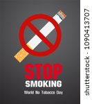 world no tobacco day  smoking... | Shutterstock .eps vector #1090413707