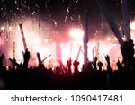 silhouettes of hand in concert... | Shutterstock . vector #1090417481