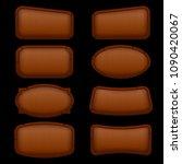 cartoon set wooden frame for... | Shutterstock .eps vector #1090420067