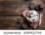 ice cream with chocolate... | Shutterstock . vector #1090421744