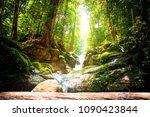 trekking in the jungle of... | Shutterstock . vector #1090423844