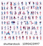 vector illustration in a flat... | Shutterstock .eps vector #1090423997