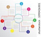 vector infographic templates... | Shutterstock .eps vector #1090426301