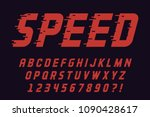 geometric speed font modern... | Shutterstock .eps vector #1090428617