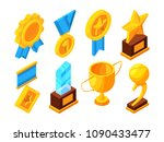 medals of honor and different... | Shutterstock .eps vector #1090433477