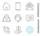 information center linear icons ... | Shutterstock .eps vector #1090434221