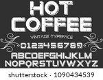 vintage font typeface vector...   Shutterstock .eps vector #1090434539