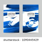 set of vector business card... | Shutterstock .eps vector #1090445429