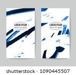 set of vector business card... | Shutterstock .eps vector #1090445507