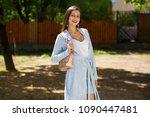 street fashion. closeup... | Shutterstock . vector #1090447481