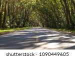beautiful road with natural... | Shutterstock . vector #1090449605