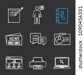 information center chalk icons... | Shutterstock .eps vector #1090456331