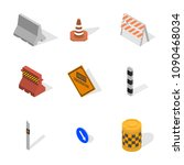 set of different signs road... | Shutterstock .eps vector #1090468034