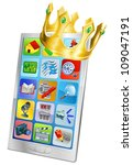 cell phone king concept  cell... | Shutterstock .eps vector #109047191