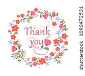 greeting card with floral... | Shutterstock .eps vector #1090472531
