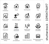 home protection icons   set 1    Shutterstock .eps vector #1090474697