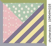 scarf with striped design   Shutterstock . vector #1090494335