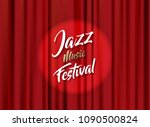 abstract jazz music festival... | Shutterstock .eps vector #1090500824