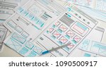 website designer creative... | Shutterstock . vector #1090500917